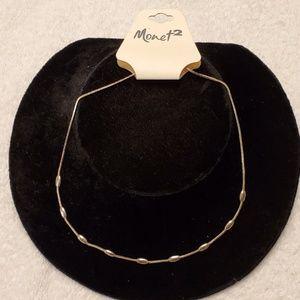 Monet 2 Ladies gold necklace NWT